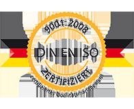 DIN EN ISO zertifiziert - 9001:2008