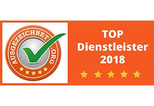 ausgezeichnet.org Top Dienstleister 2018