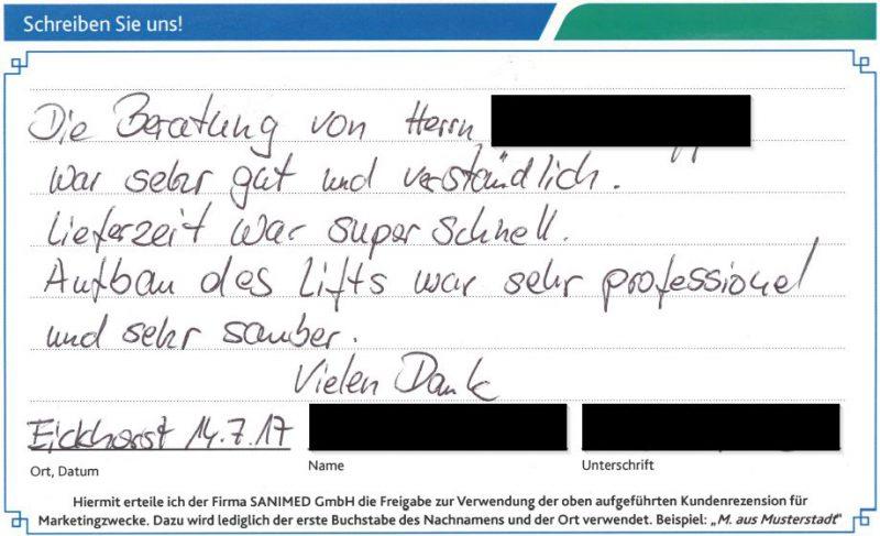 Kundenstimme von B. aus Eickhorst