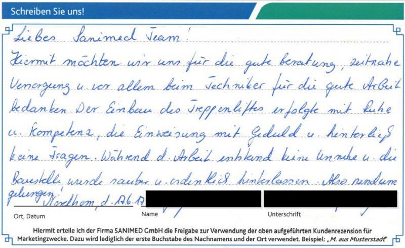 Kundenstimme von E. aus Nordhorn
