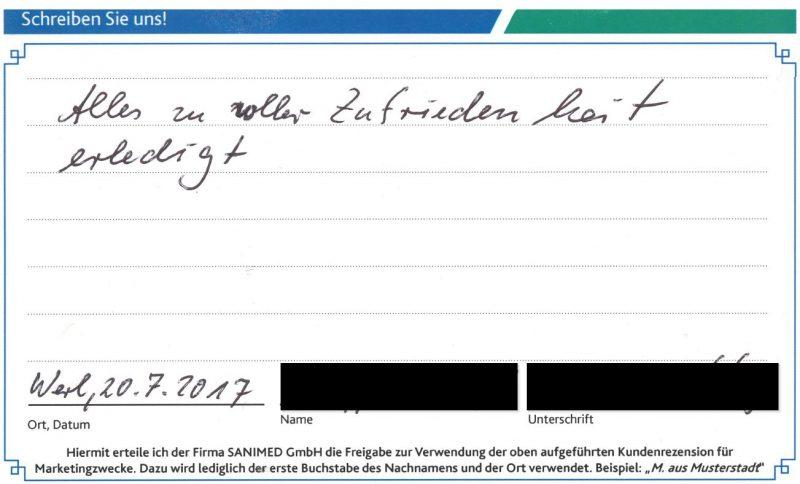 Kundenstimme von K. aus Werl