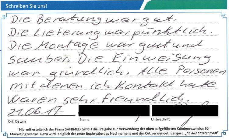 Kundenstimme von V. aus Paderborn