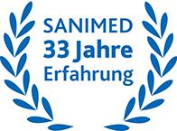 SANIMED 33 Jahre Erfahrung