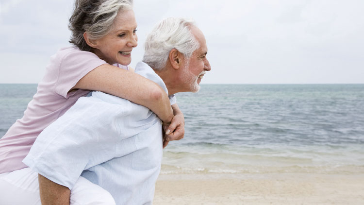 einfach leben - älteres Paar