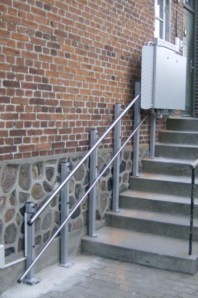 Rollstuhl-Plattformlift Stützenbefestigung