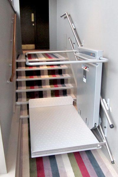 Rollstuhl-Plattformlift Wandbefestigung innen