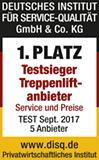 1. Platz Testsieger Treppenliftanbieter