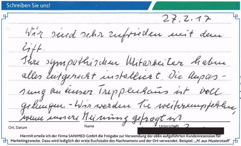 Kundenstimme von B. aus Münster