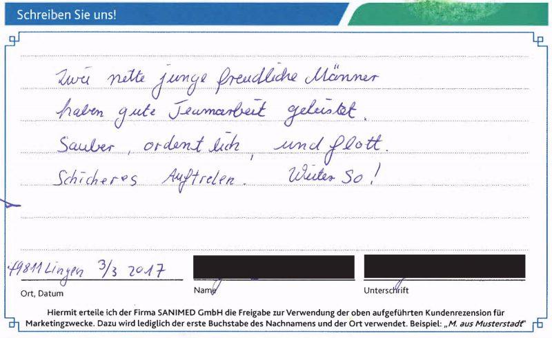 Kundenstimme von K. aus Lingen
