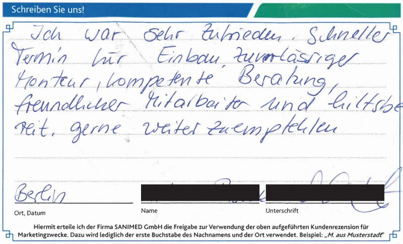 Kundenstimme von P. aus Berlin