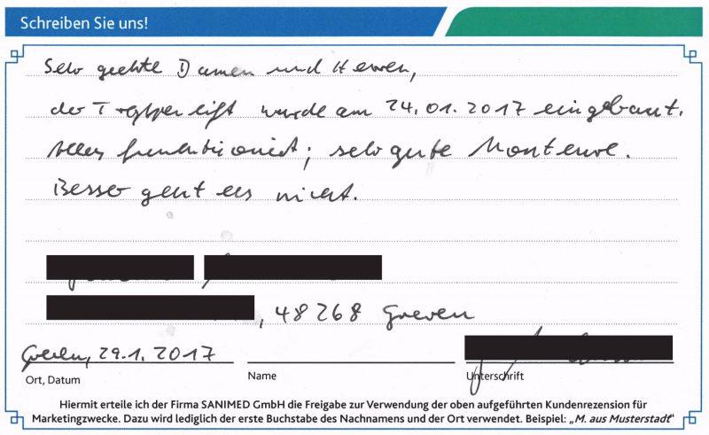 Kundenstimme von S. aus Greven