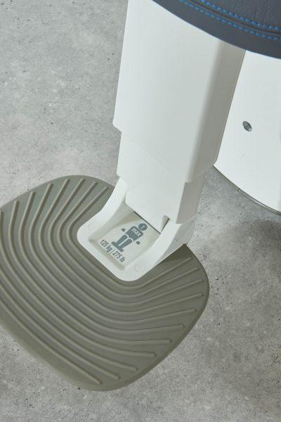 Fußstütze des SANIMED 70 EXTRA Treppenlift für kurvige Treppen